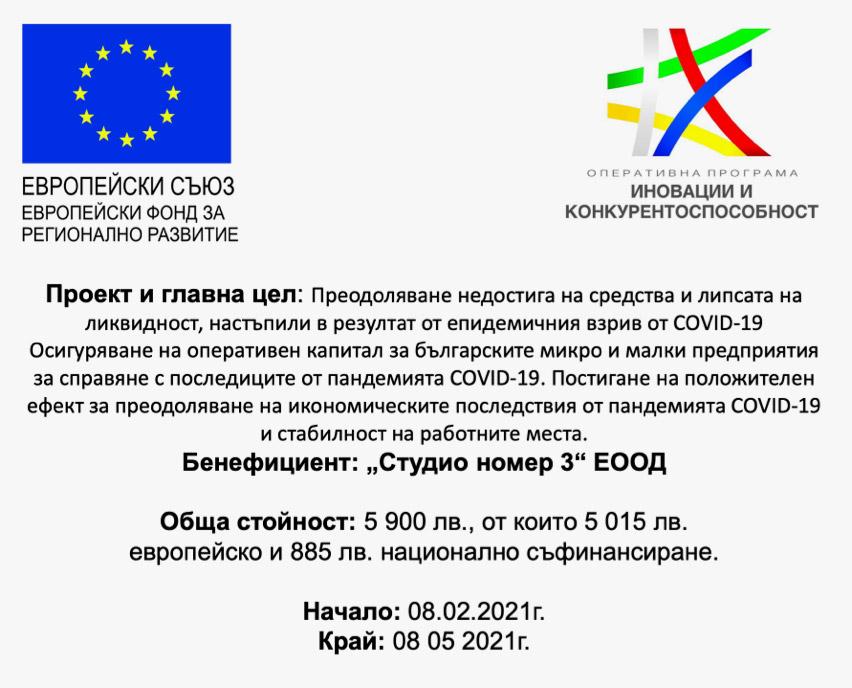 Европейски фонд за регионално развитие и Оперативна програма - Иновации и конкурентоспособност